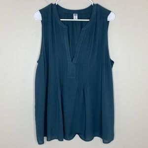 NWT Old Navy Teal Sleeveless Blouse Women's XL